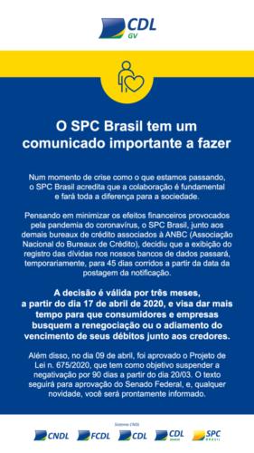 Comunicado SPC Brasil